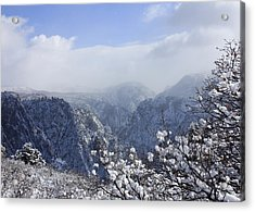 Canyon Mist Acrylic Print by Marta Alfred