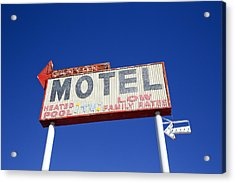 Acrylic Print featuring the photograph Canyon Motel Sign by Gigi Ebert