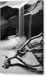 Acrylic Print featuring the photograph Canyon Sandfall by Bryan Keil