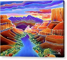 Canyon Sunrise Acrylic Print by Harriet Peck Taylor