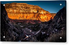 Canyon Sunset Acrylic Print