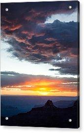 Canyon Sunset Acrylic Print by Dave Bowman