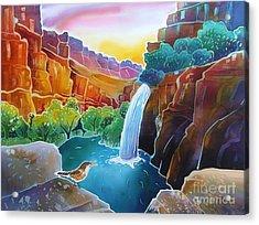 Canyon Waterfall Acrylic Print