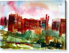 Acrylic Print featuring the painting Canyonlands 03 by Anne Duke