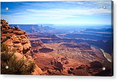 Acrylic Print featuring the photograph Canyonlands - A Landscape To Get Lost In by Peta Thames