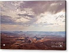 Canyonlands Panorama Acrylic Print by Delphimages Photo Creations