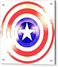 Cap Am Shield Acrylic Print