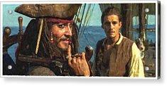 Cap. Jack Sparrow Acrylic Print