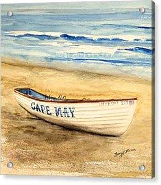 Cape May Lifeguard Boat - 2 Acrylic Print by Nancy Patterson
