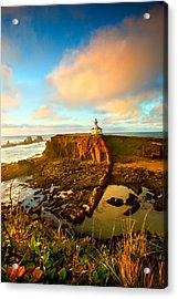 Cape Arrago Lighthouse1 Acrylic Print by Joe Klune