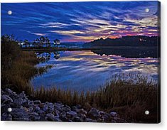 Cape Charles Sunrise Acrylic Print by Suzanne Stout