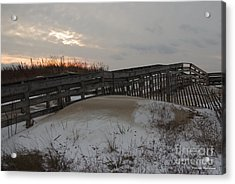 Cape Charles Winter Acrylic Print by Tannis  Baldwin