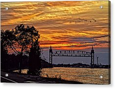 Cape Cod Canal Sunset  Acrylic Print by Constantine Gregory