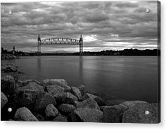 Acrylic Print featuring the photograph Cape Cod Canal Train Bridge by Amazing Jules