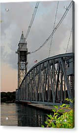 Cape Cod Canal Train Bridge Art Print Acrylic Print