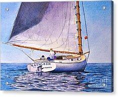Cape Cod Catboat Acrylic Print by Karol Wyckoff