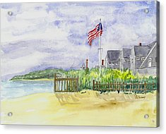 Massachusetts -cape Cod Cottages Acrylic Print by Christine Lathrop