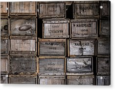 Cape Cod Cranberry Crates Acrylic Print by Andrew Pacheco