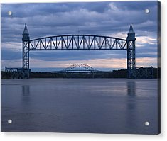 Acrylic Print featuring the photograph Cape Cod Train Bridge by Amazing Jules
