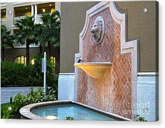 Acrylic Print featuring the photograph Cape Coral Florida Fountain by Timothy Lowry