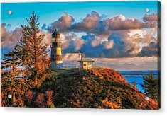 Cape Disappointment Light House Acrylic Print by James Heckt