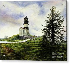 Cape Disappointment Lighthouse On The Washington Coast Acrylic Print