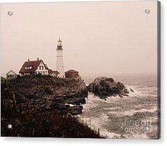 Cape Elizabeth In The Mist Acrylic Print