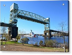 Cape Fear Draw Bridge  Acrylic Print