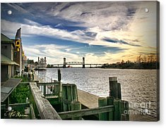 Acrylic Print featuring the photograph Cape Fear Riverwalk by Phil Mancuso