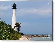 Cape Florida Beach Acrylic Print by Carey Chen