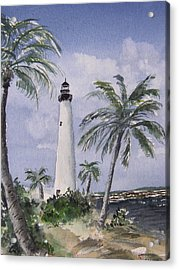 Cape Florida Light Acrylic Print by Stephanie Sodel