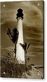 Cape Florida Lighthouse Acrylic Print by Skip Willits