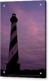 Cape Hatteras Lighthouse At Dusk Acrylic Print by Jim Baker