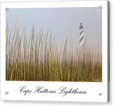 Cape Hatteras Lighthouse In The Fog Acrylic Print