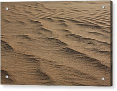 Cape Hatteras Ripples In The Sand-north Carolina Acrylic Print by Mountains to the Sea Photo