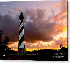 Cape Hatteras Sunset Acrylic Print by Nick Zelinsky