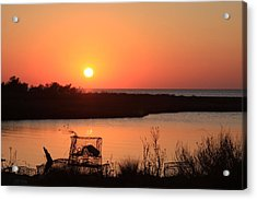 Cape Hatteras Sunset-north Carolina Acrylic Print by Mountains to the Sea Photo