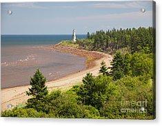 Cape Jourimain Lighthouse In New Brunswick Acrylic Print by Elena Elisseeva