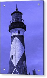 Cape Lookout Light In Purple Acrylic Print