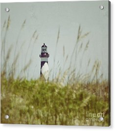 Cape Lookout Lighthouse - Vintage Acrylic Print