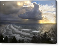 Acrylic Print featuring the photograph Sunset At Cape Lookout Oregon Coast by Yulia Kazansky