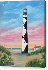 Cape Lookout Sunset Acrylic Print by Fran Brooks
