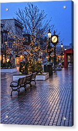 Cape May Christmas Acrylic Print by Tom Singleton