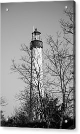 Cape May Light B/w Acrylic Print