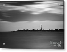 Cape May Lighthouse Long Exposure Bw Acrylic Print