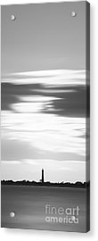 Cape May Lighthouse Vertical Long Exposure Bw Acrylic Print