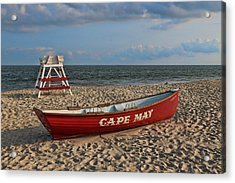 Cape May N J Rescue Boat Acrylic Print