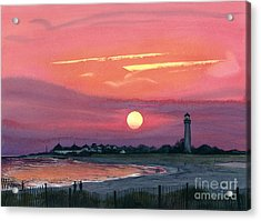 Cape May Sunset Acrylic Print by Barbara Jewell