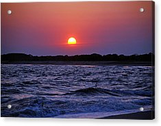 Cape May Sunset Acrylic Print by Richard Bryce and Family