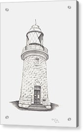 Acrylic Print featuring the drawing Cape Naturalist Lighthouse by Patricia Hiltz